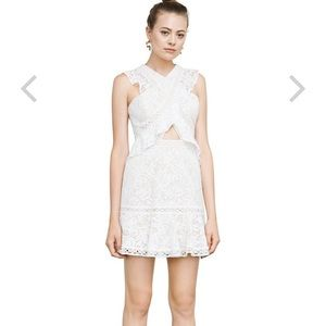 BCBGMAXAZRIA Careen Geometric Lace Mini Dress